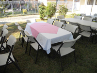 looking for linen table cloths for your table check out our wide selection of table cloths and diamond centers high quality table cloths high quality tables and chairs for rent, rectangular tables and chairs, linen table cloths available for rent, rentals available in the valley, free delivery included