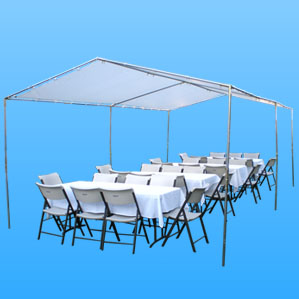 canopy tent rentals patio heaters porta potty table and chair rentals with canopy 12x20 size prices and specials delivery free in the valley tent rentals in the valley we have open tents and tents with sidewall our tents are the color white they can be rented with chair covers we also carry table cloths and runners for decorating our round and rectangular tables. Our tents can be decorated for your event.